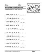 pattern challenge worksheet number pattern challenge 2nd 3rd grade worksheet