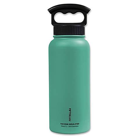 Berkualitas K 7 Thermo Water Jug 1 7 L buy fifty fifty 34 oz vacuum insulated 3 finger lid water bottle in aqua from bed bath beyond