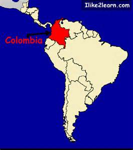 map of colombia in south america colombia map