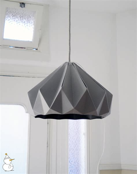 origami light shade gray studio snowpuppe origami lshades