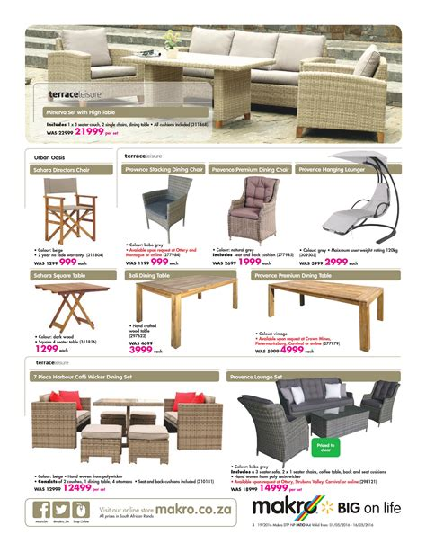 makro catalogue      patio furniture