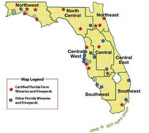 florida winery map earth sciences geography