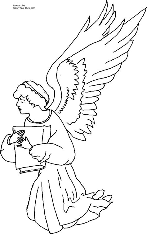 coloring pages of angels to print free coloring pages of and angels