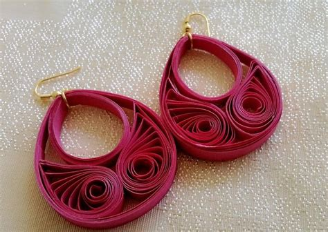 Paper Jewellery Tutorials - new model quilling papers earring paper earrings
