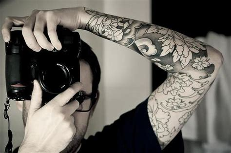 Black And White Flower Tattoo Sleeve Tattoos Book 65 Black Flower Sleeve
