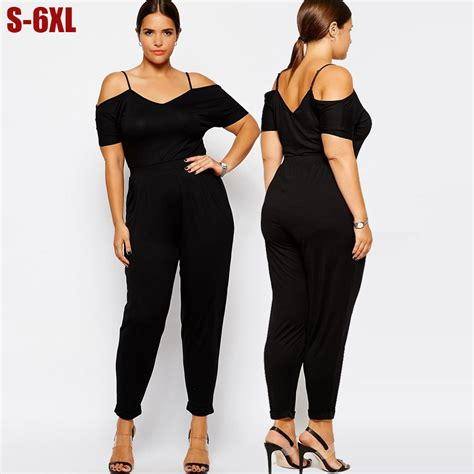 big clothing aliexpress buy 5x 6xl jumpsuits plus size rompers black big