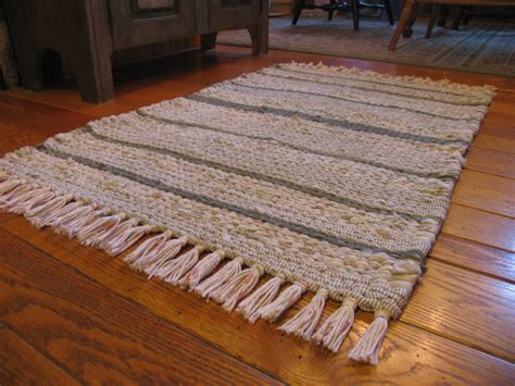 rugs with fringe twined rag rug with fringe in creams mosses