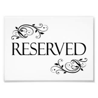 Reserved Cards For Tables Templates by Reserved Table Sign Gifts On Zazzle