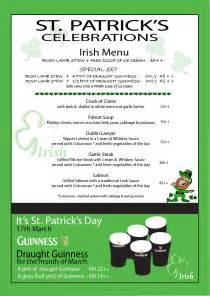 George amp dragon cafe events irish menu for st patrick s week