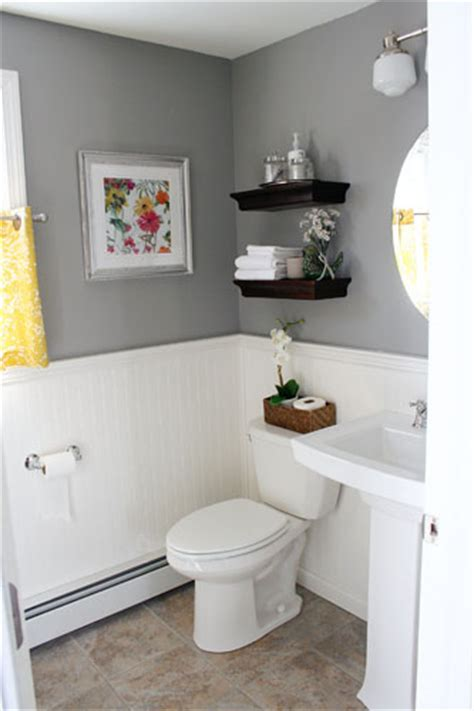 bathroom ideas gray it s just paper at home powder room renovation