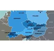 Mapa De Los Pa&237ses Europa Central