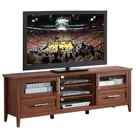 75 tv console table modern tv stand with storage for tvs up to 75 quot color oak