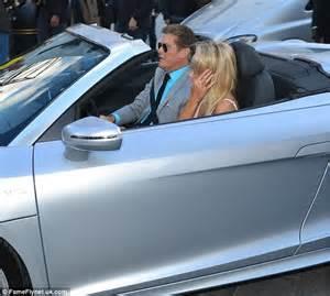david hasselhoff  girlfriend hayley roberts attend hoff