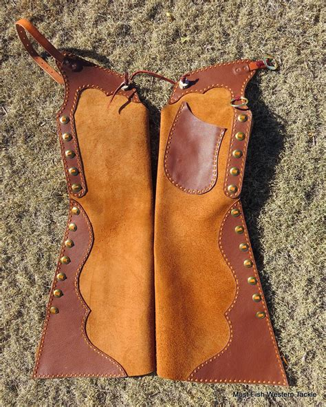 Handmade Cowboy Chaps - new handmade maker marked bell step in buckstitched