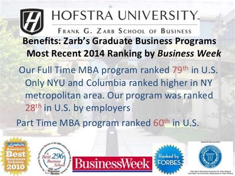 Hofstra Mba Program Tuition by Hofstra Zarb Emba Progra 2015 Version
