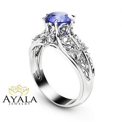 bluish violet tanzanite engagement ring tanzanite