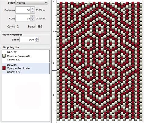 Imaginesque Beading Peyote Stitch Pattern 14