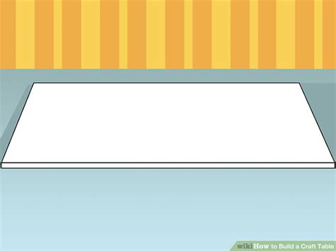 how to build a craft table how to build a craft table with pictures wikihow