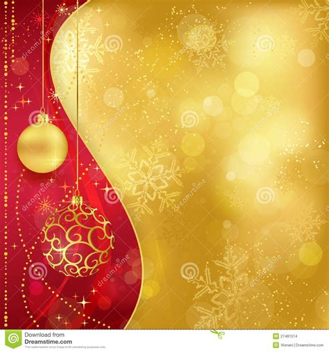 red golden christmas background  baubles stock images image