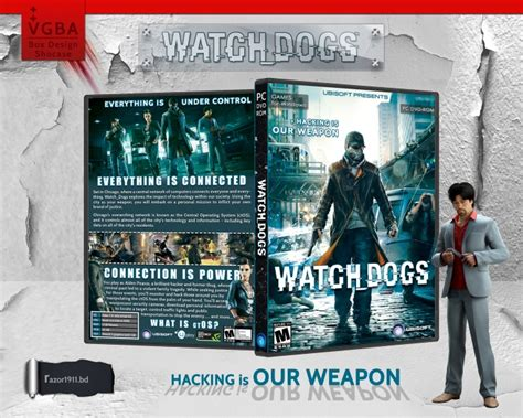 Bd Ps3 Kaset Watchdogs dogs pc box cover by razor1911 bd
