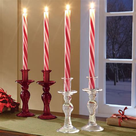Home Decor Statues Sculptures candy cane candles the green head
