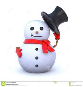 small snowman takes hat stock illustration image 62793364