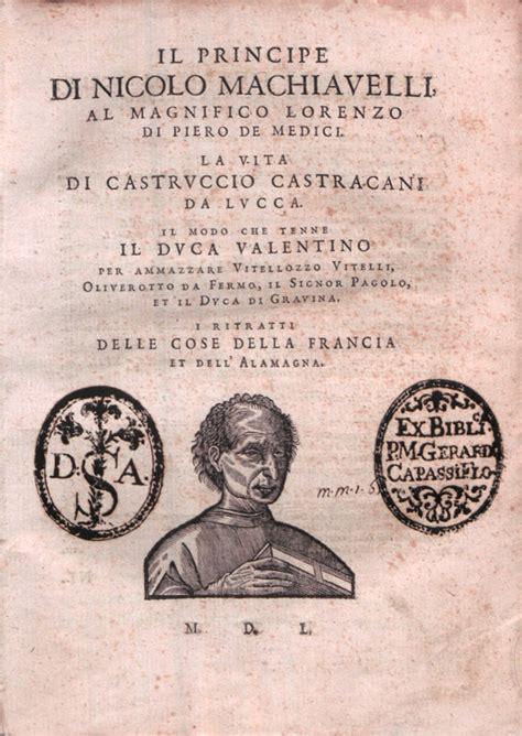 Il Principe Sang Pangeran Niccolo Machiavelli the prince