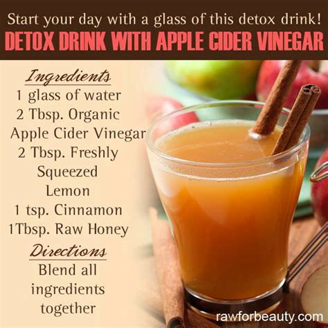 Apple Cider Vinegar Detox For Acne by De Inflame With Superfoods