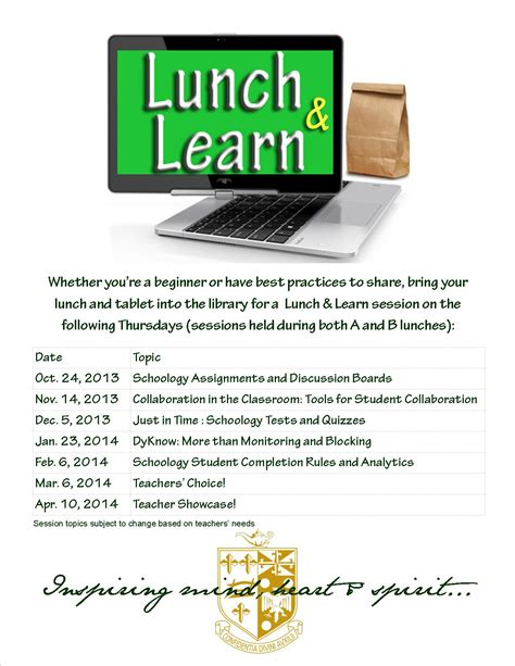 learn uph to all students change your email address to lunch learn talk tech with me