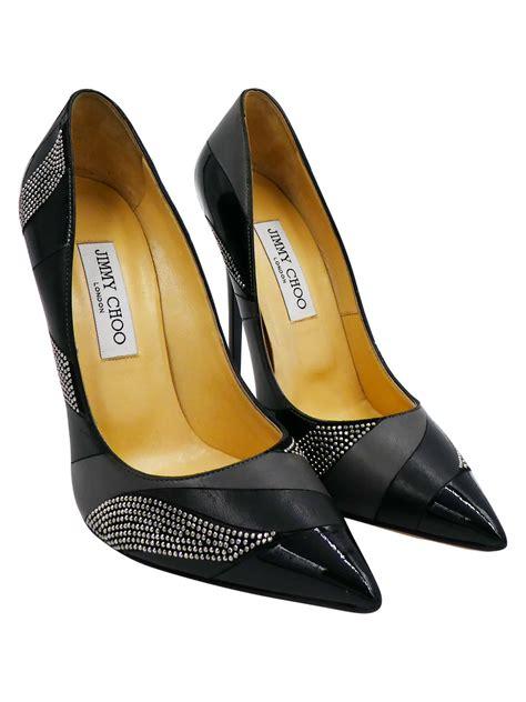 Sepatu Jimmy Choo Pumps Black Patent Highheels Original jimmy choo black grey leather black patent leather and rhinestone heels ebay