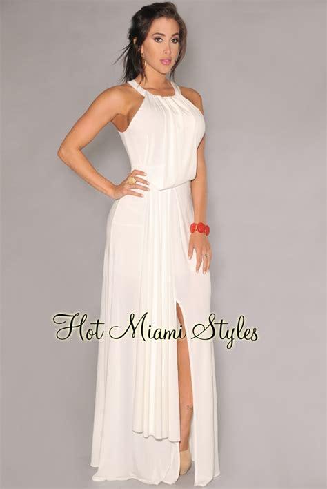 Off White Goddess Maxi Dress