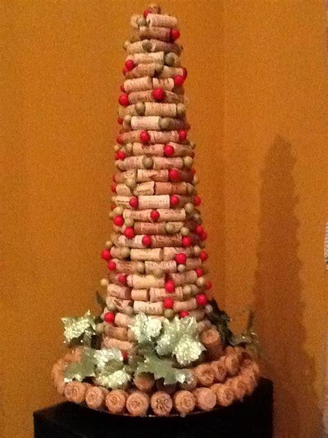 wine cork christmas tree diy christmas crafty trees