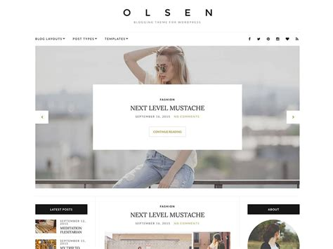 best blogging templates 25 best fashion magazine themes 2016