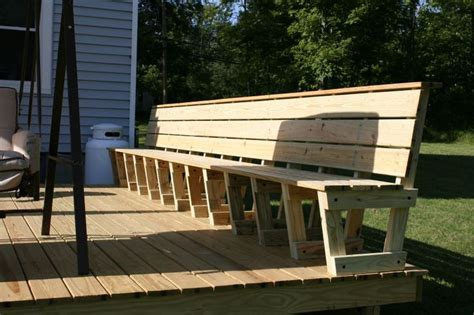 wood deck storage bench plans woodworking projects plans