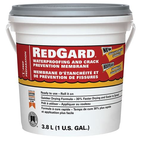 custom building products redgard waterproofing and
