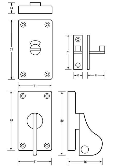 sliding door 400 series locks ml405al