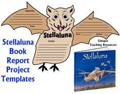 Hiloh Lesson Plans Shaped Book Report Project Templates Stellaluna Unit On Stellaluna Bats And Story Maps