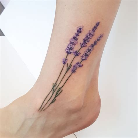 lavendar tattoo pin by otzi on realistic flower