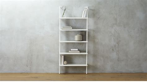 stairway white wall mounted bookshelf cb2