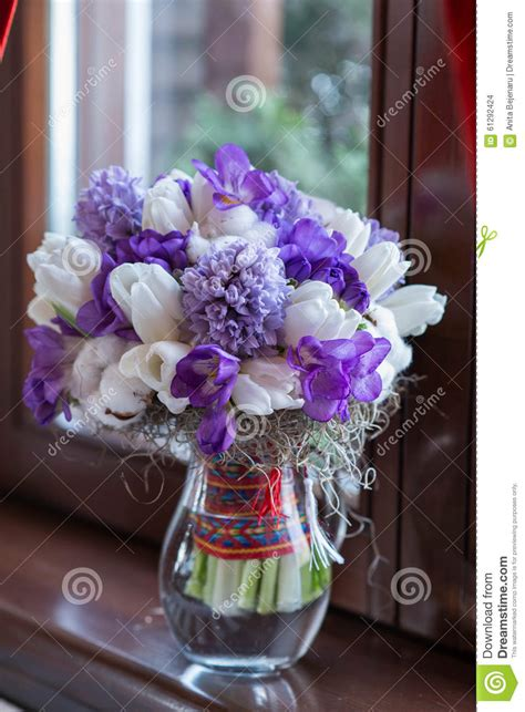 Vases For Bridesmaid Bouquets by Wedding Bouquet In Vase Stock Photo Image 61292424