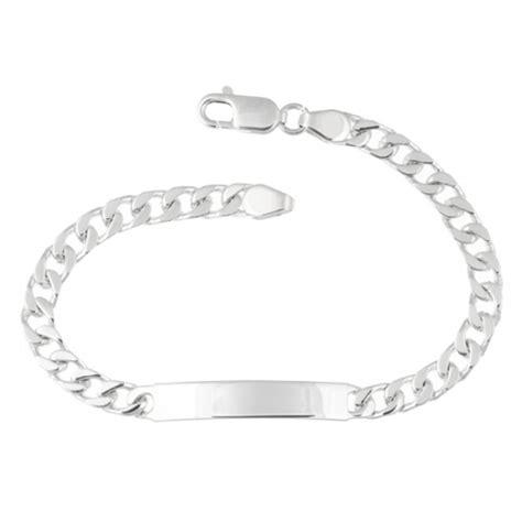 mens identity id bracelet 925 sterling silver