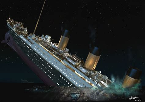 pictures of the titanic sinking image gallery leonardo titanic sinking