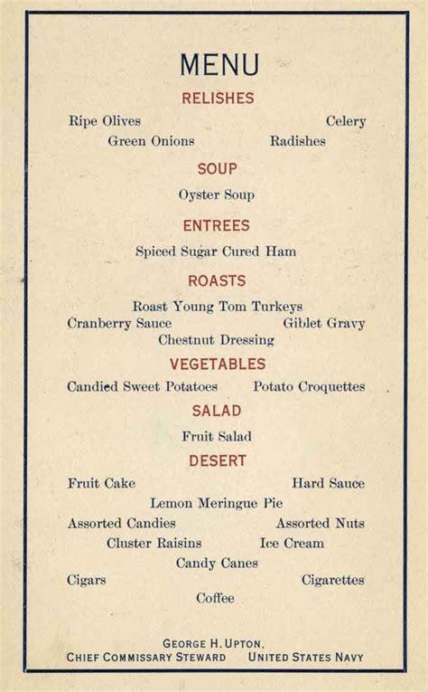 christmas menu ideas christmas dinner menu ideas uss oregon 1917 christmas