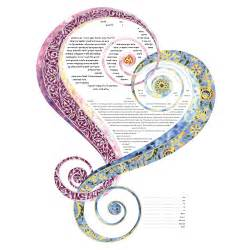 ketubah by amy fagin contemporary ketubah bar and bat