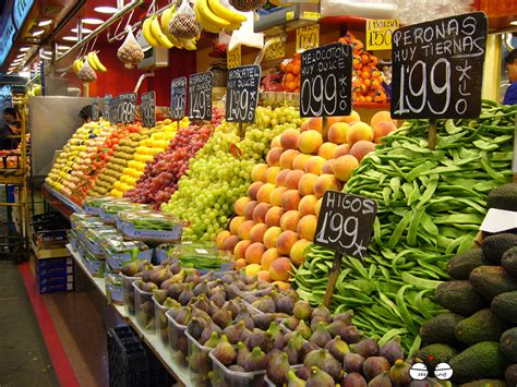 fruit market markets in barcelona