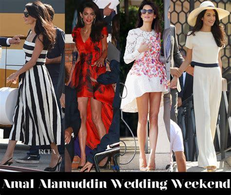 Every Single One Of Amal Alamuddin Wedding Right The New Style Icon Amal Alamuddin Clooney Style Stop