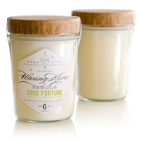 Soy Candles fortune soy candle with green tea and grapefruit