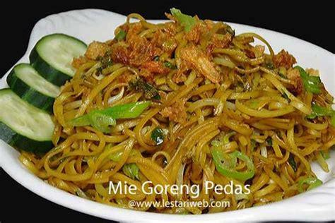 cara membuat mie goreng setan kumpulan resep asli indonesia mie goreng extra pedaaaaas