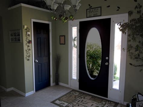 Front Door Interiors Black Painted Interior Doors Why Not Homesfeed