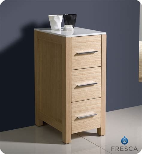 Bathroom Side Cabinet 12 Quot Fresca Torino Fst6212lo Side Cabinet In Light Oak Side Cabinets Bath Kitchen And Beyond
